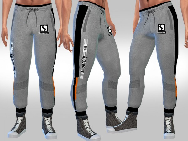 The Sims Resource: Athletic Track Pants by Saliwa