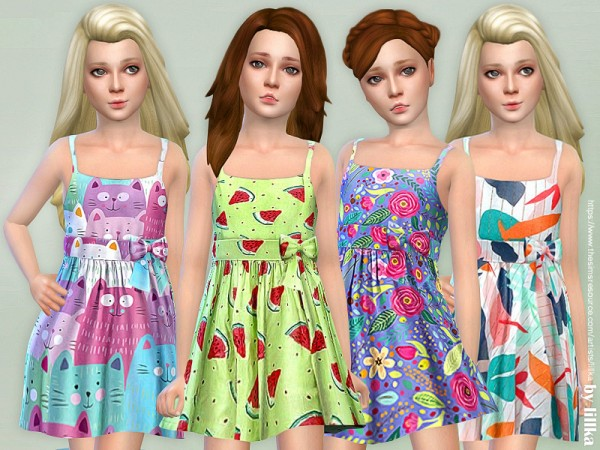 The Sims Resource: Girls Dresses Collection P125 by lillka