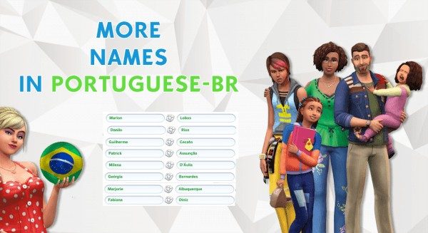 Mod The Sims: More names in Portuguese BR by thaina