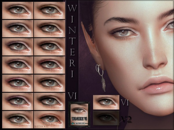 The Sims Resource: Winteri Eyeshadow V1 by RemusSirion