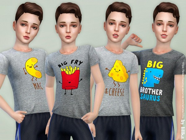 The Sims Resource: T Shirt Collection for Boys P13 by lillka