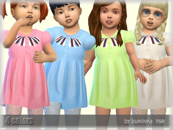 The Sims Resource: Dress and Collar by bukovka