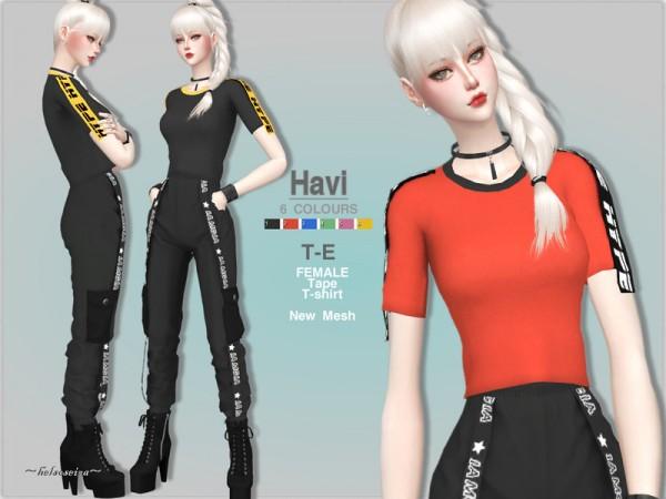 The Sims Resource: HAVI   T Shirt by Helsoseira