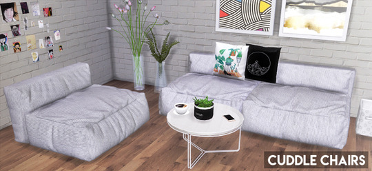 Descargas Sims: Cuddle Chairs