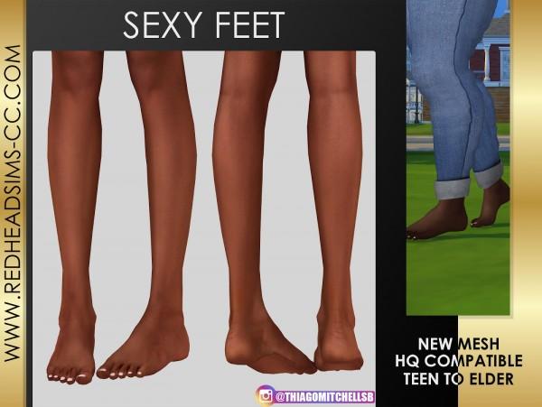 Red Head Sims: Feet 3D