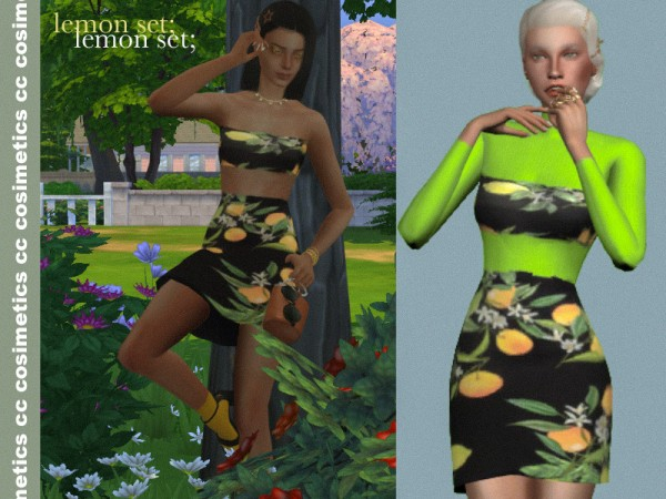 The Sims Resource: Lemon set by cosimetics