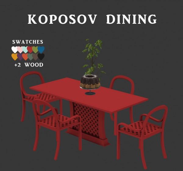 Leo 4 Sims: Koposov Dining