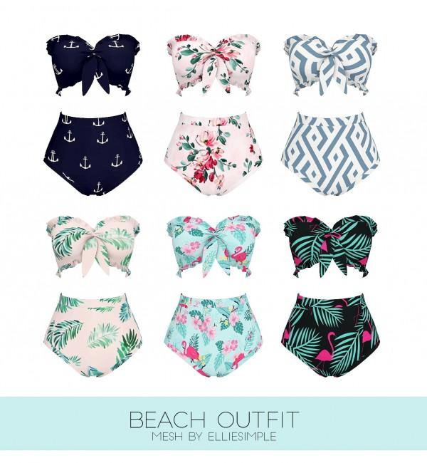 Kenzar Sims: Beach outfit