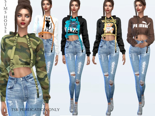 The Sims Resource: Hooded sweater and print by Sims House