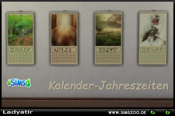 Blackys Sims 4 Zoo: Kalender by ladyatir