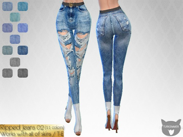 The Sims Resource: Ripped Jean 02 by turksimmer