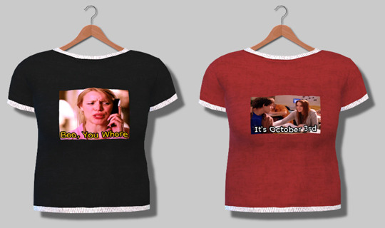 Descargas Sims: Means Girls Tees