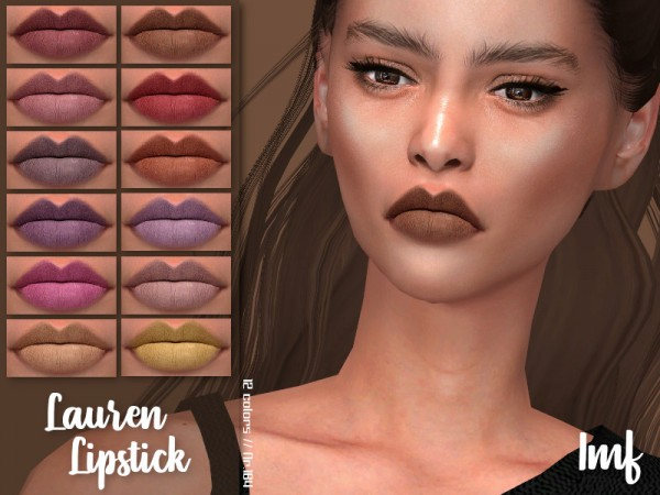 The Sims Resource: Lauren Lipstick N.184 by IzzieMcFire