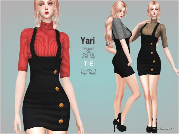 The Sims Resource: YARI   Overalls by Helsoseira