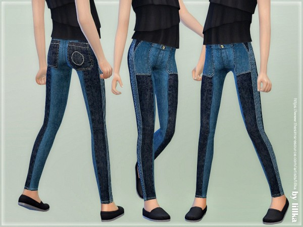 The Sims Resource: Skinny Jeans for Girls 05 by lillka