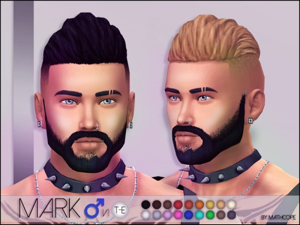 Sims Studio: Mark Hairstyle by mathcope