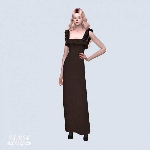 SIMS4 Marigold: Frill Frill Long Dress