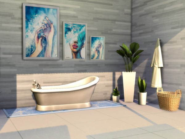 The Sims Resource: Bathroom Wall Art   Soak Away by AwkwardUnicornCC