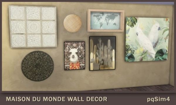 PQSims4: Maison du Monde Wall Decor