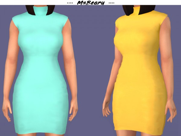 The Sims Resource: Criss cross Backless Dress by MsBeary