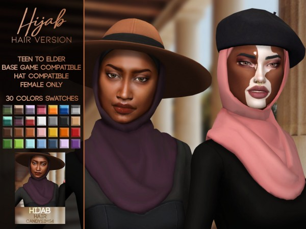 Candy Sims 4: Hijab Hairstyle