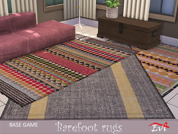 The Sims Resource: Barefoot rugs by evi