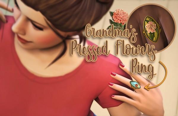 Miss Ruby Bird: Pressed Flower Ring