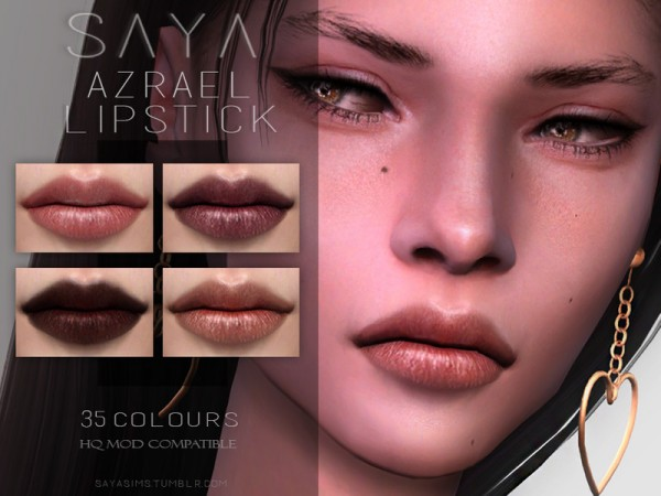 The Sims Resource: Azrael Lipstick by Saya Sims