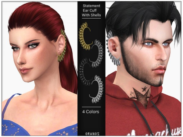 The Sims Resource: Statement Ear Cuff With Shells by OranosTR