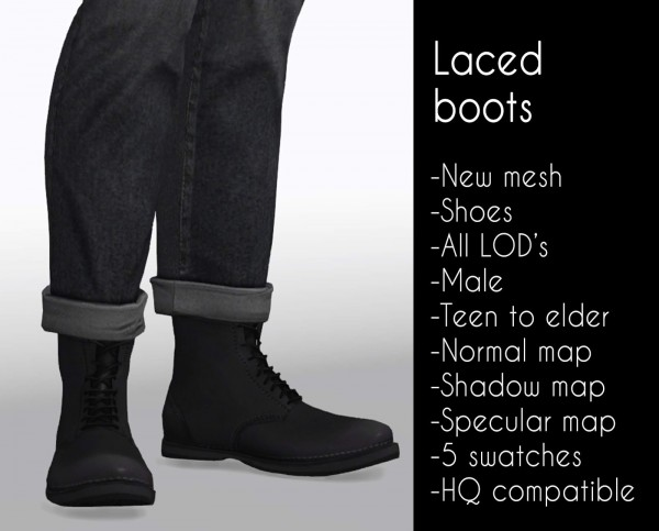 Lazyeyelids: Laced boots