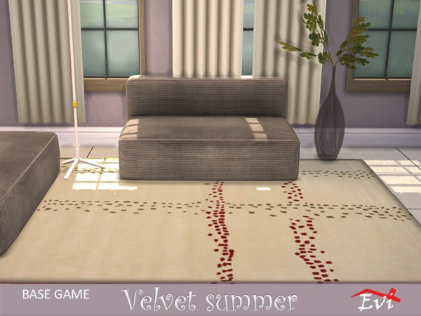 The Sims Resource: Velvet summer rugs by evi