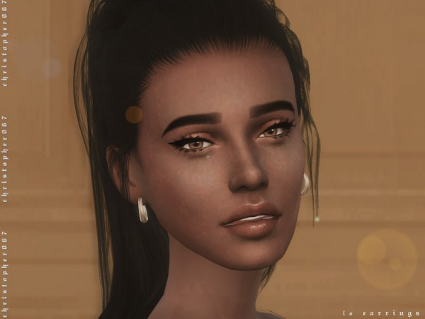 The Sims Resource: LO Earrings by Christopher067