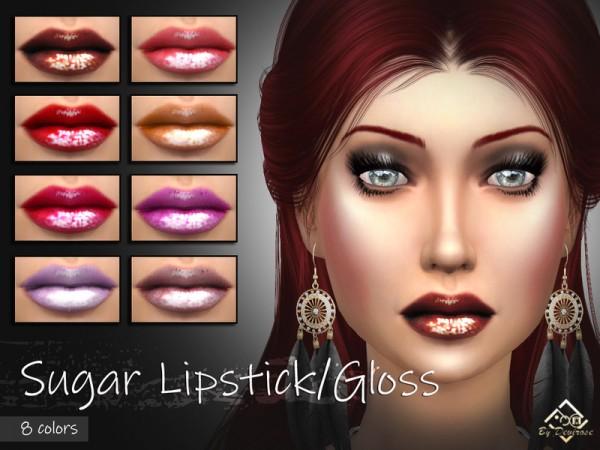The Sims Resource: Sugar Lipstick Gloss by Devirose