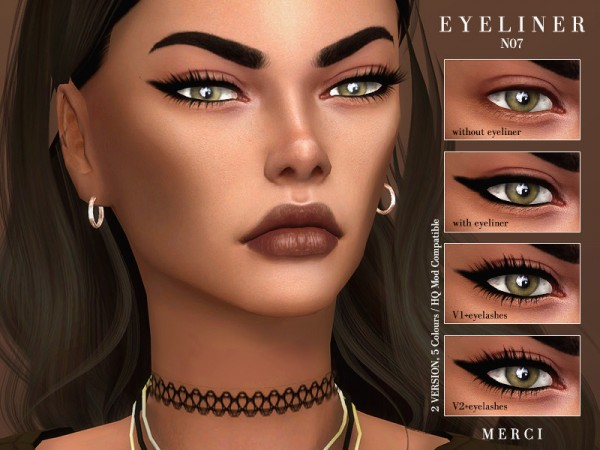 The Sims Resource: Eyeliner N07 by Merci