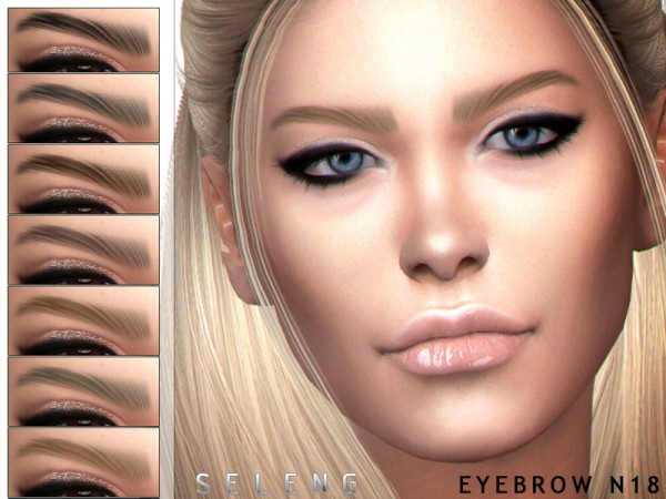 The Sims Resource: Eyebrows N18 by Seleng