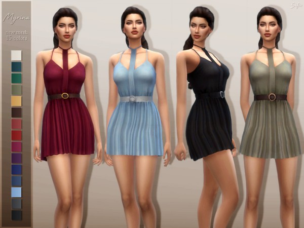 The Sims Resource: Myrina Dress by Sifix