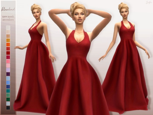 The Sims Resource: Rosalind Gown by Sifix