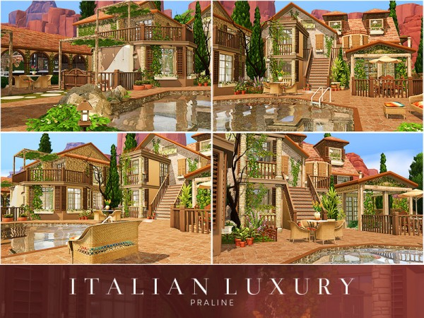 The Sims Resource: Italian Luxury House by Praline Sims