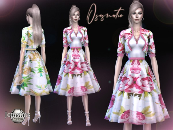 The Sims Resource: Osesnatie dress by Jomsims