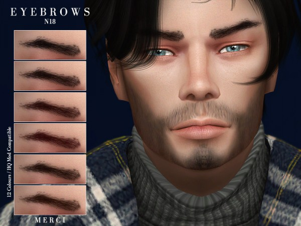 The Sims Resource: Eyebrows N18 by Merci