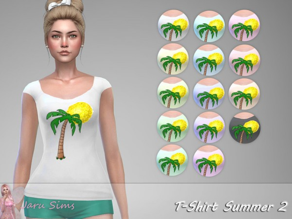The Sims Resource: T Shirt Summer 2 by Jaru Sims