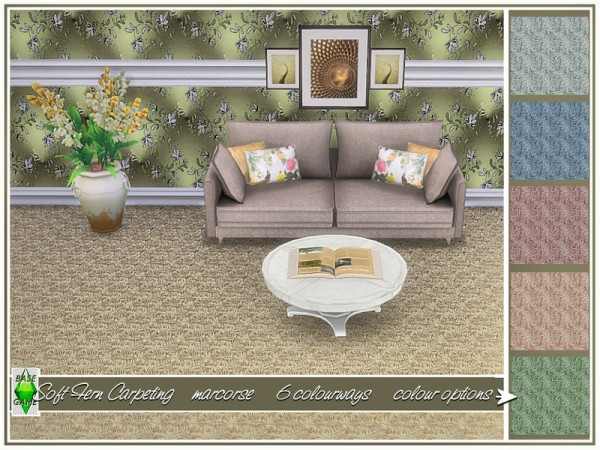 The Sims Resource: Soft Fern Carpeting by marcorse