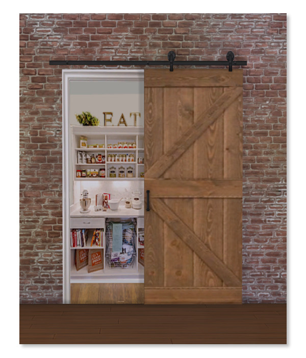 Fake Barn Door Pantry Sims 4 S
