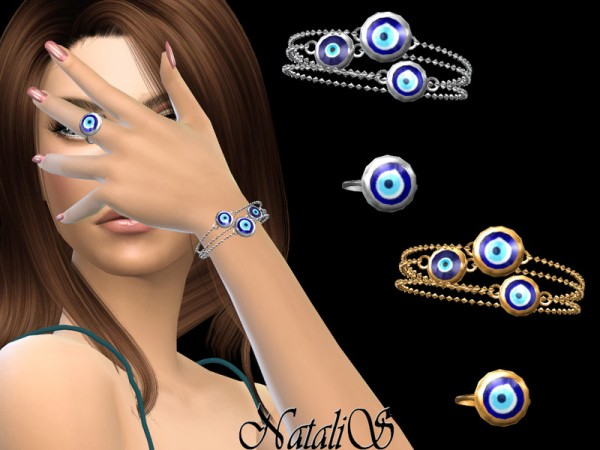 The Sims Resource: Evil eye bracelets left with ring by NataliS