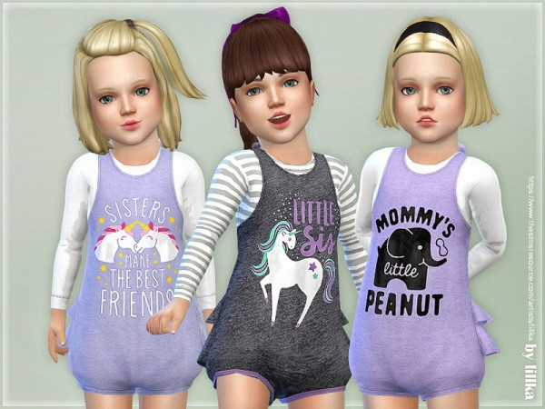 The Sims Resource: Casual Romper for Toddler by lillka