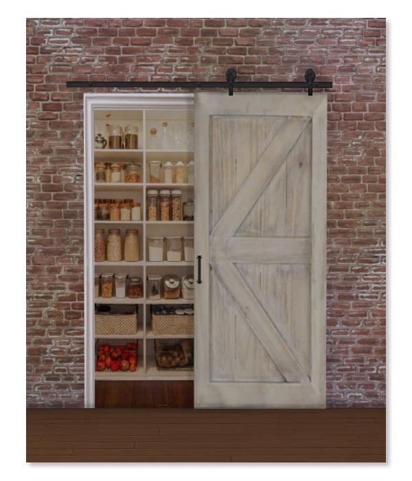 Simthing New Fake Barn Door Pantry Sims 4 Downloads