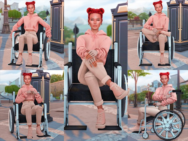 The Sims Resource: Wheelchair Pose Pack by KatVerseCC