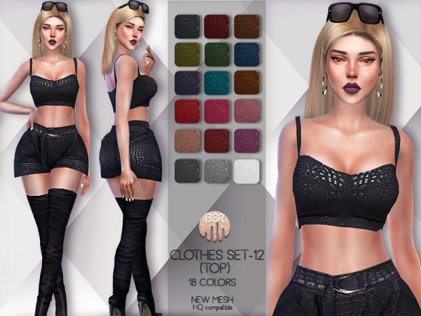 The Sims Resource: Clothes SET 12 Top by busra tr