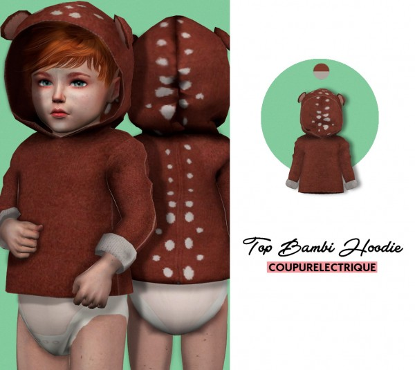 Red Head Sims: Top Bambi Hoodie
