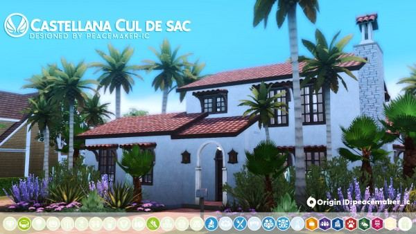 Simsational designs: Castellana Cul de sac   A modest Mission home in the Valley